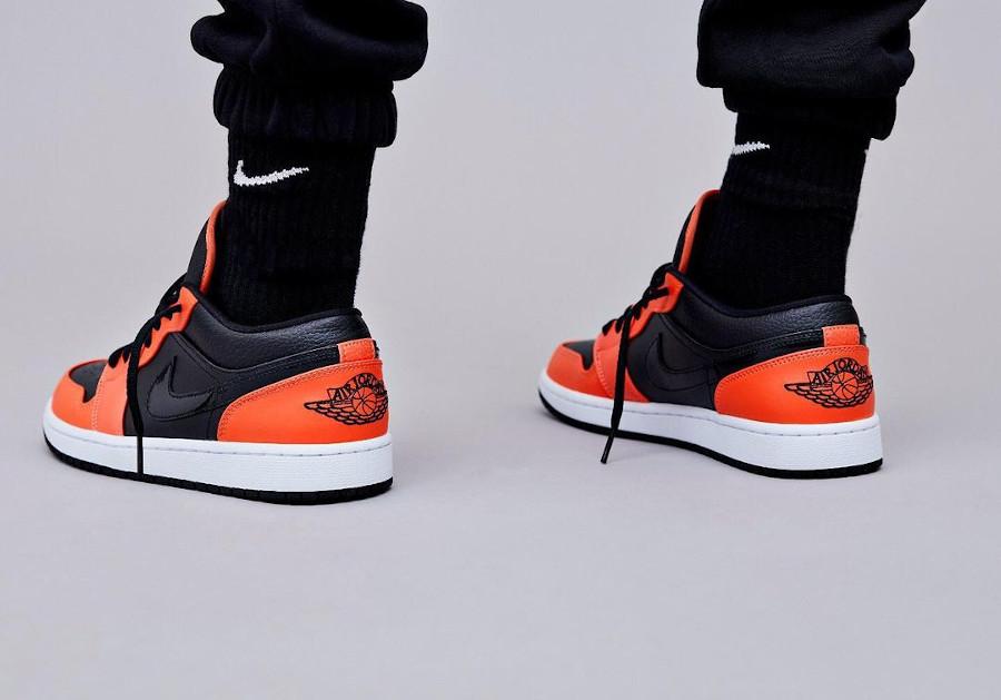Air Jordan 1 Low 2021 noire et mandarine (1)