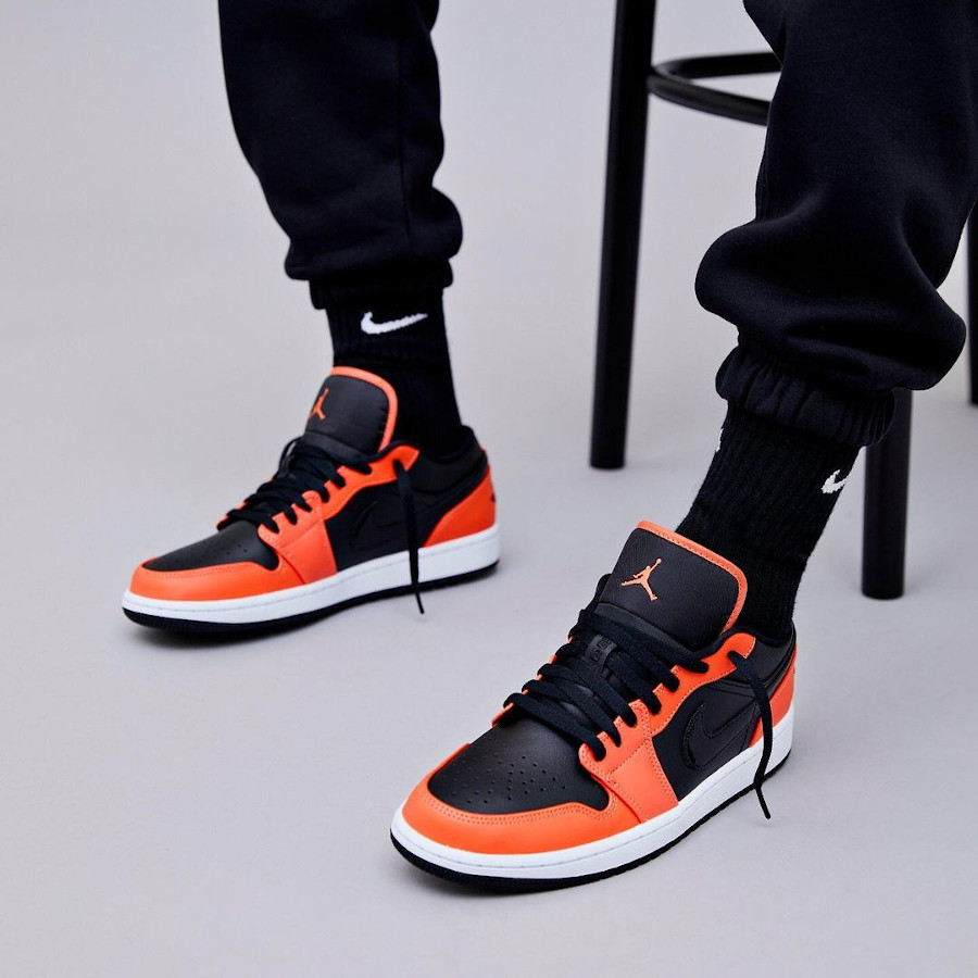 Air Jordan 1 Low 2021 noire et mandarine (2)