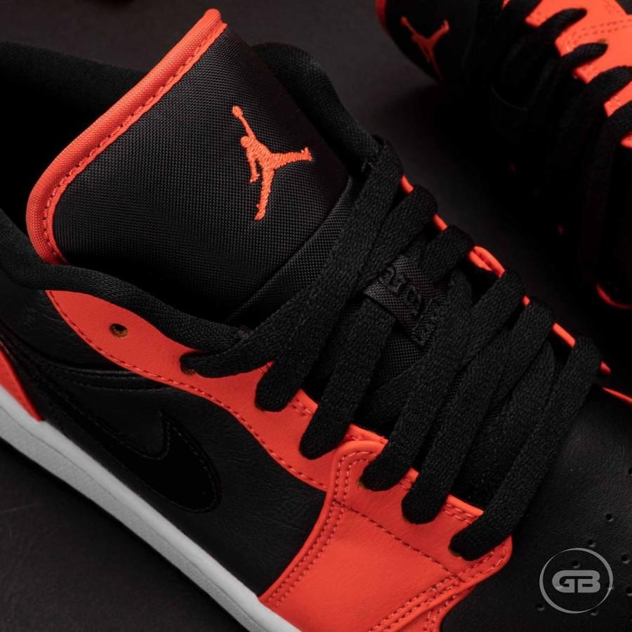Air Jordan 1 Low 2021 noire et mandarine (4)