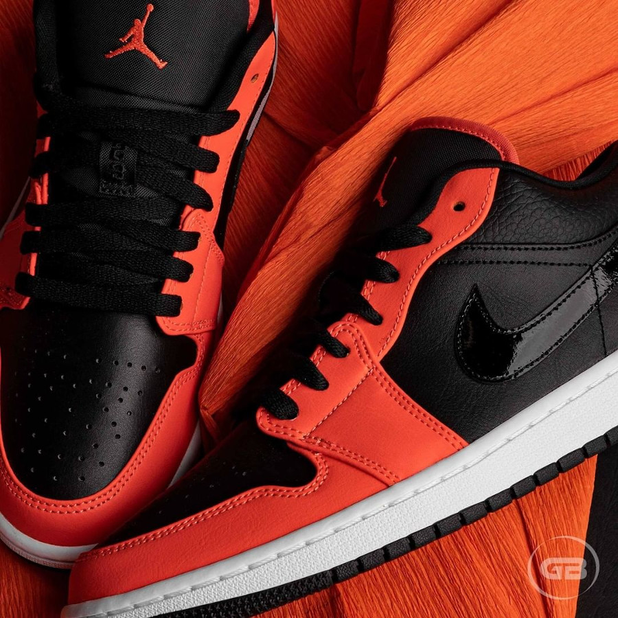 Air Jordan 1 Low 2021 noire et mandarine (5)