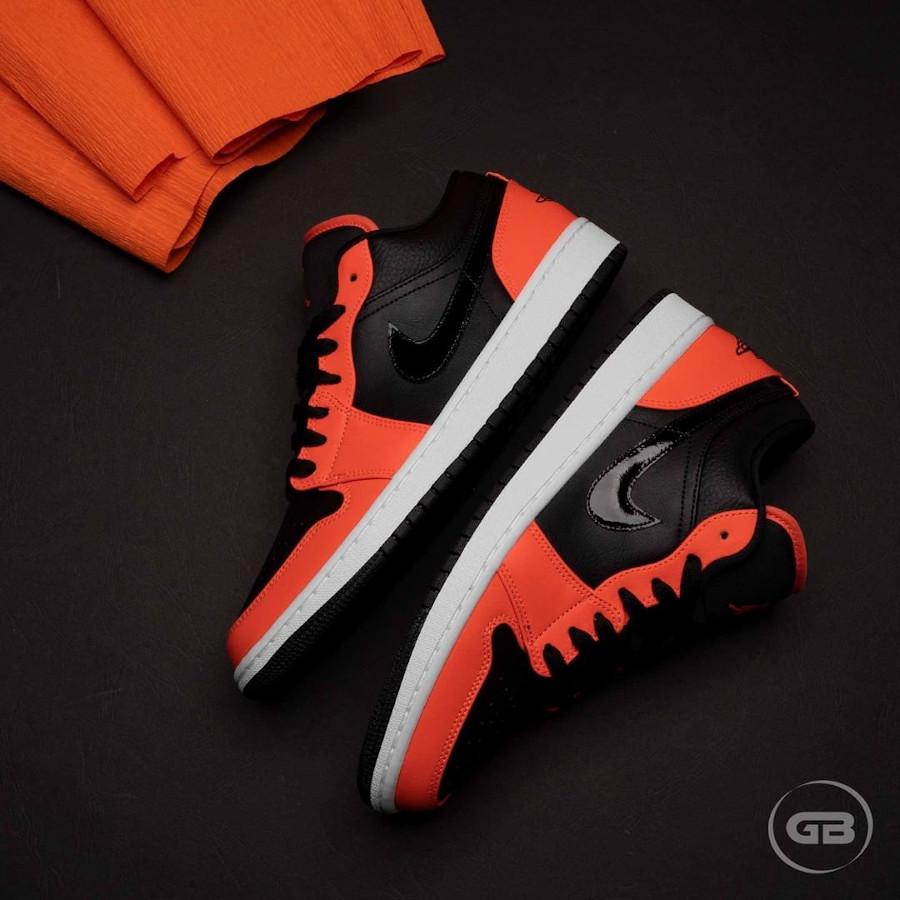 Air Jordan 1 Low 2021 noire et mandarine (6)