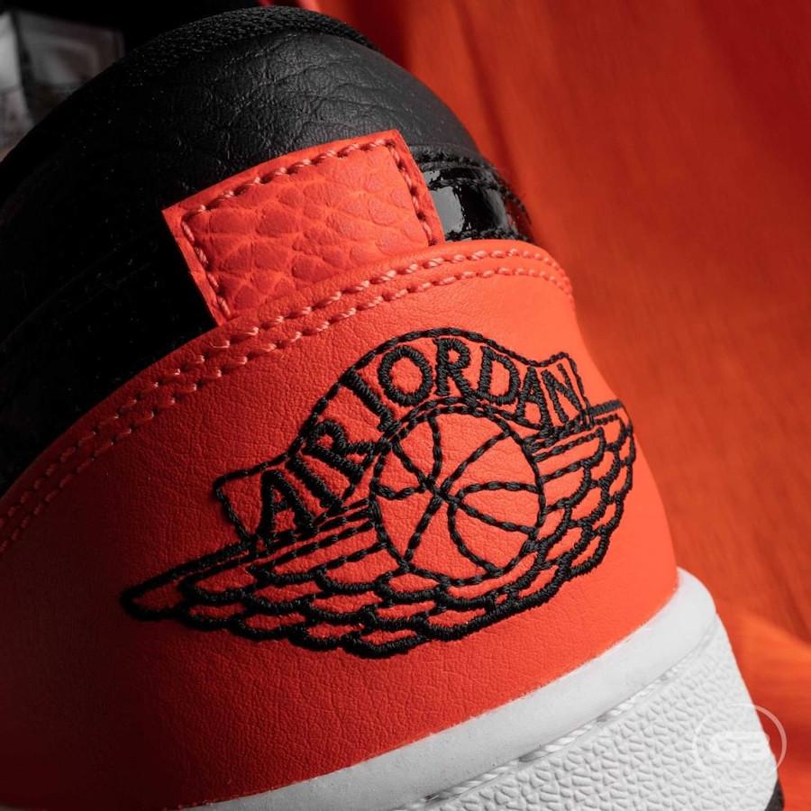 Air Jordan 1 Low 2021 noire et mandarine (7)