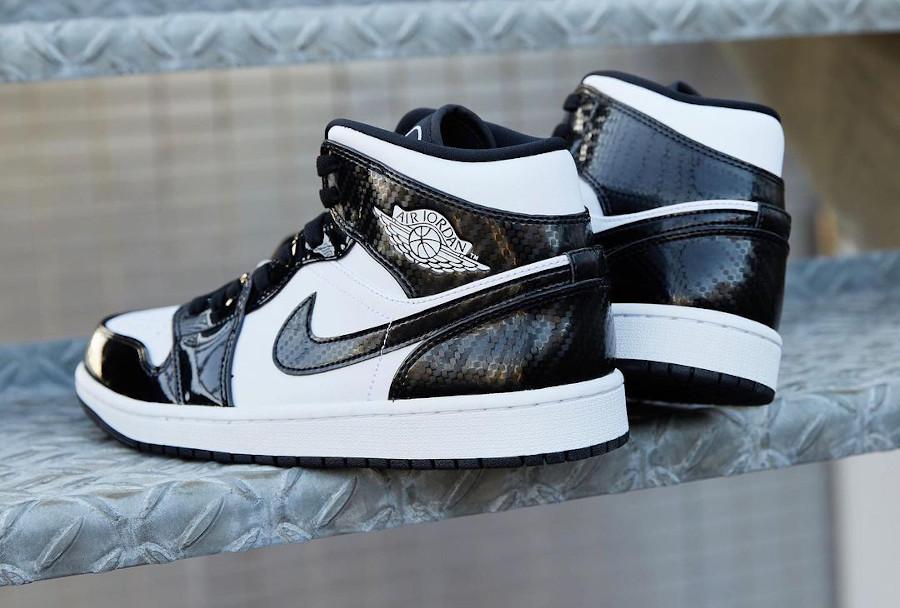 Air Jordan 1 Mid Patent Leather noir (1)