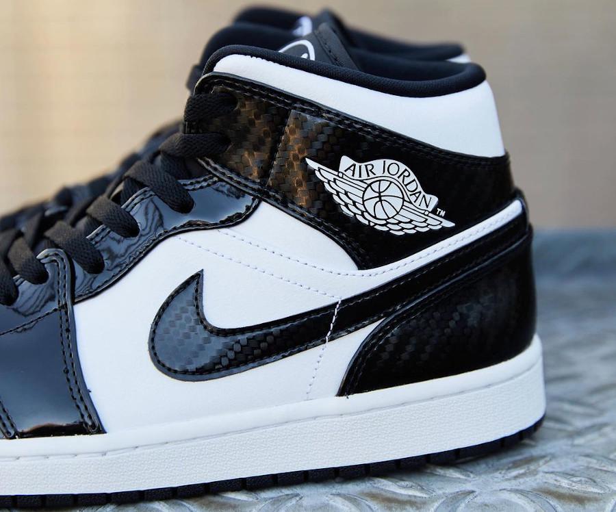 Air Jordan 1 Mid Patent Leather noir (3)