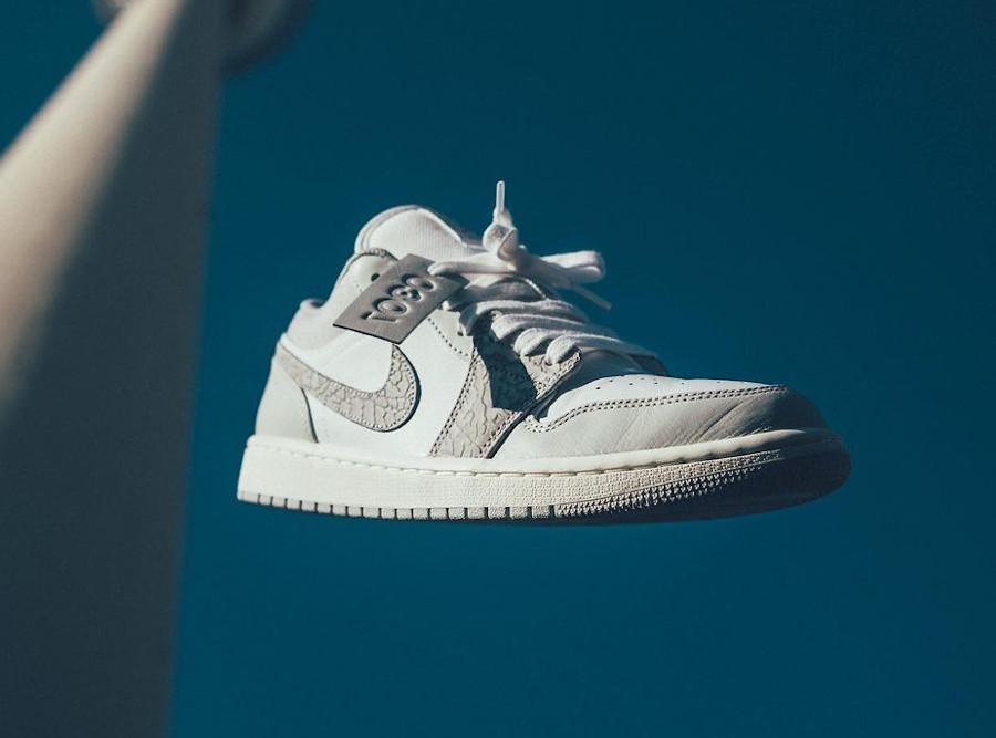 Air Jordan 1 basse 2021 blanche et grise (2)