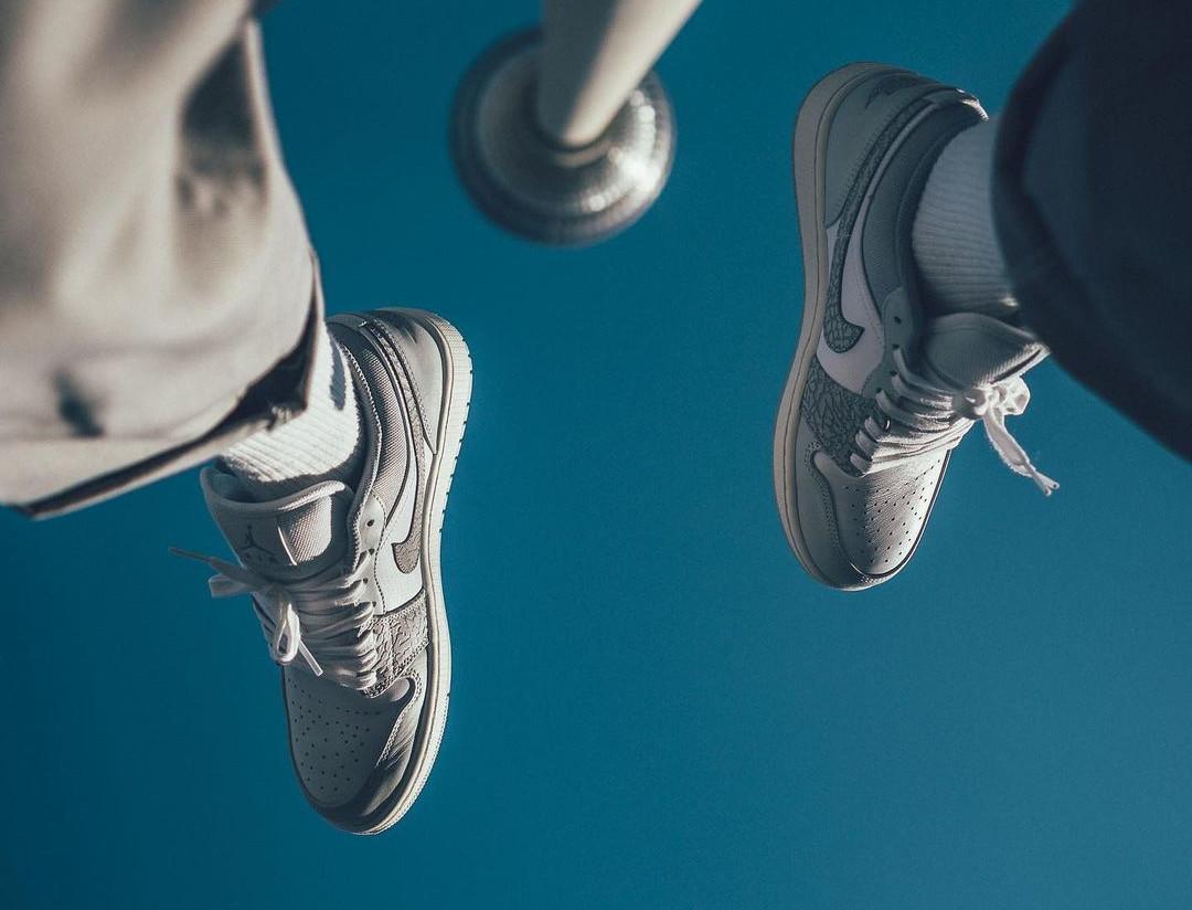 Air Jordan 1 basse 2021 blanche et grise (3)