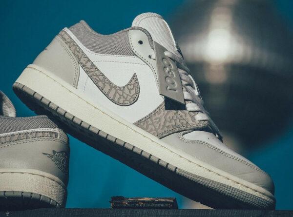 Air Jordan 1 basse 2021 blanche et grise (5)