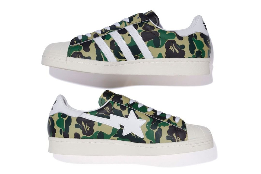 Bape x Adidas Superstar Green Camo date de sortie