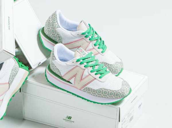 NB 237 x Casablanca MS237CBA Monogram Holly Green