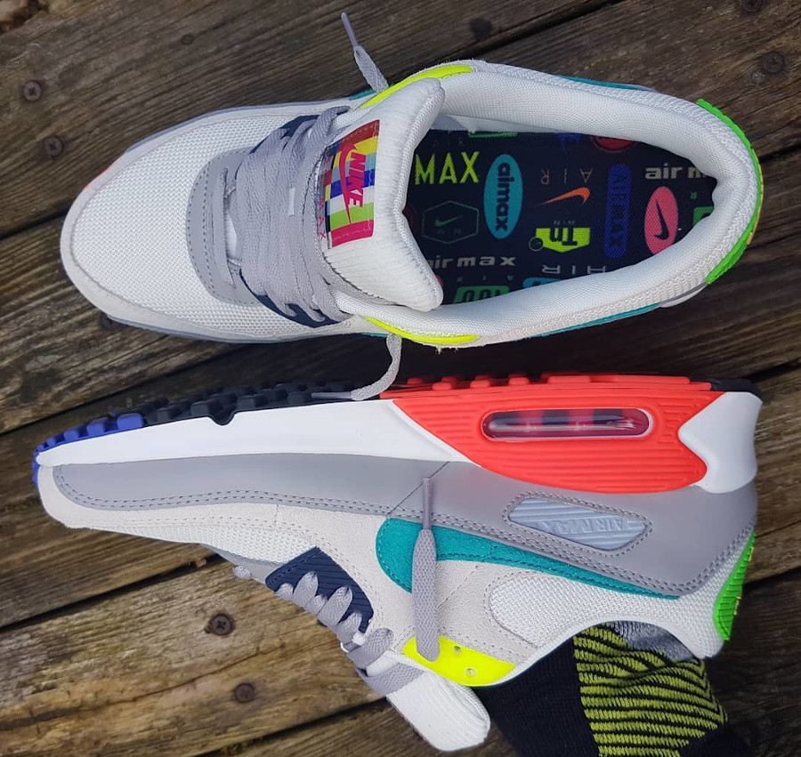 Nike AM90 2021 Pearl Grey Sport Turquoise Summit White (3)