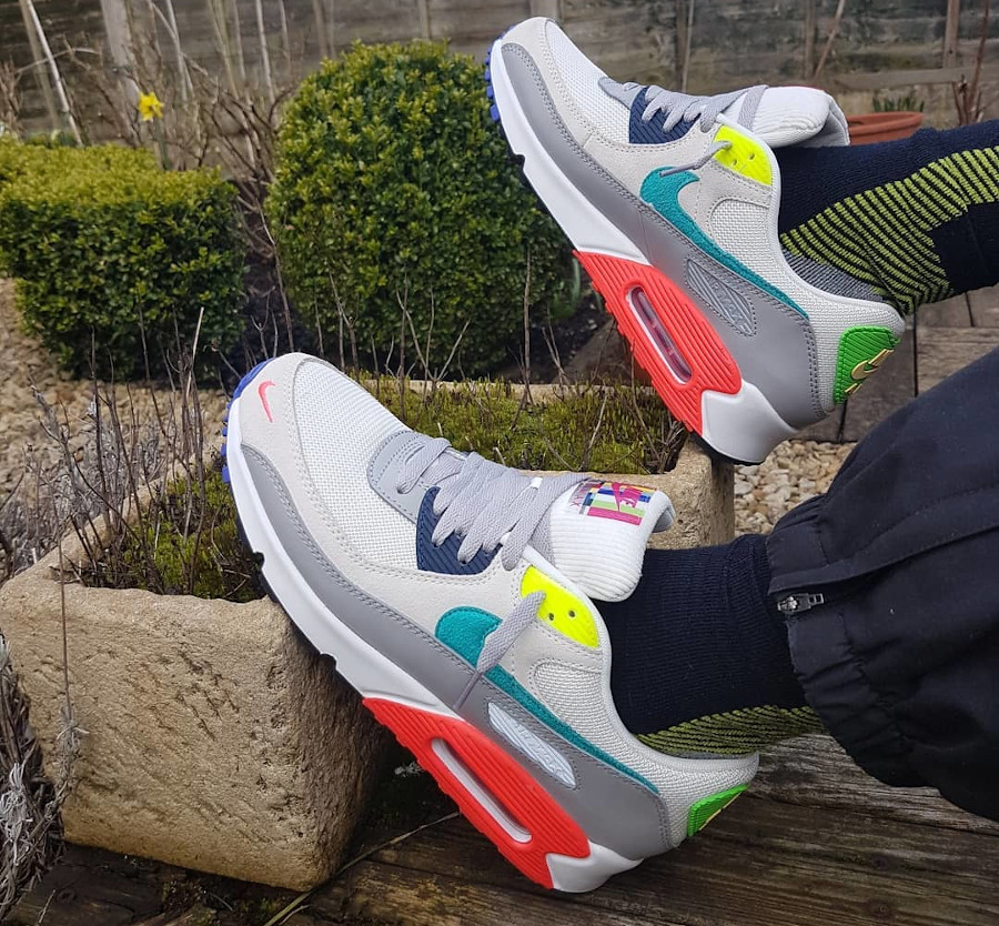 Nike AM90 2021 Pearl Grey Sport Turquoise Summit White (4)
