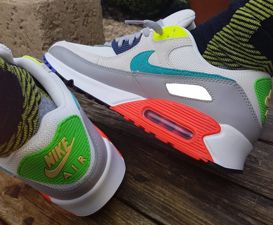 Nike AM90 2021 Pearl Grey Sport Turquoise Summit White (5)