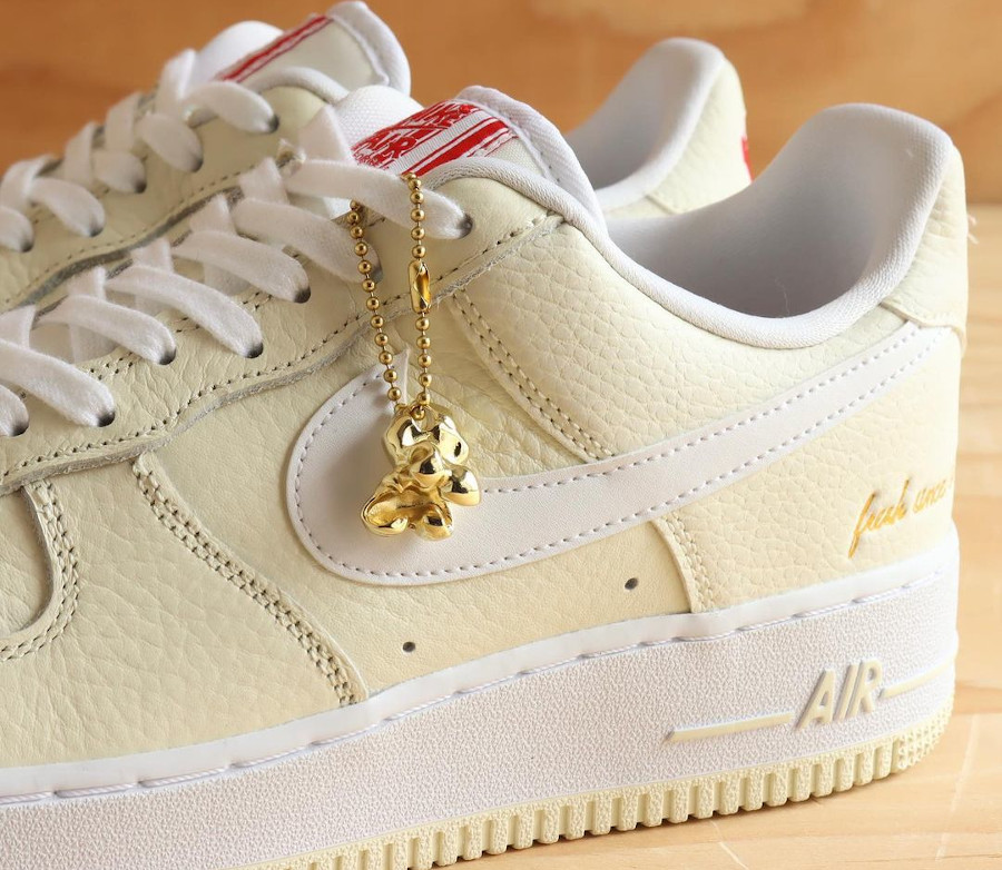 Nike Air Force One 2021 beige maïs soufflé (6-1)