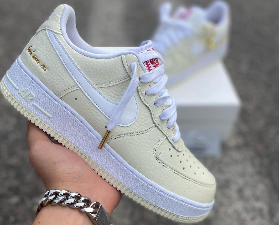 Nike Air Force One 2021 beige maïs soufflé (6-3) (1)