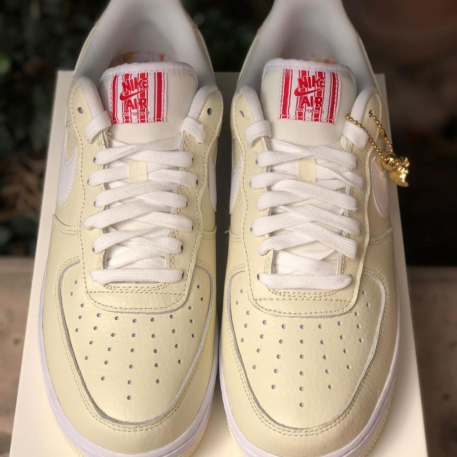 Nike Air Force One 2021 beige maïs soufflé (6)