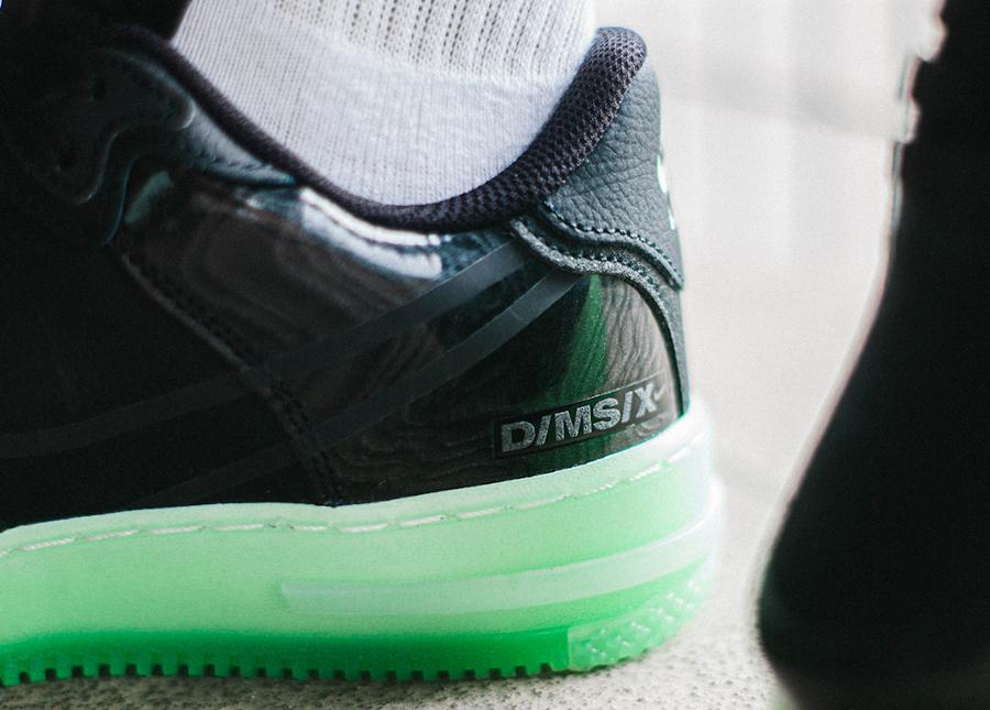 Nike Air Force One React DSMX 2021 noire et verte (2)