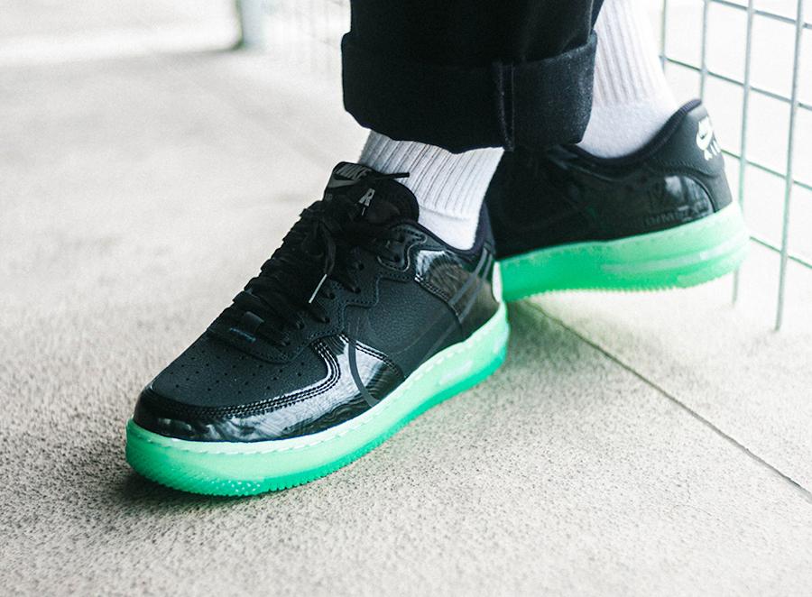 Nike Air Force One React DSMX 2021 noire et verte (3)