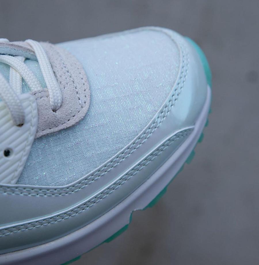 Nike Air Max 90 iridescent 2021 blanc cassé et vert jade (3)