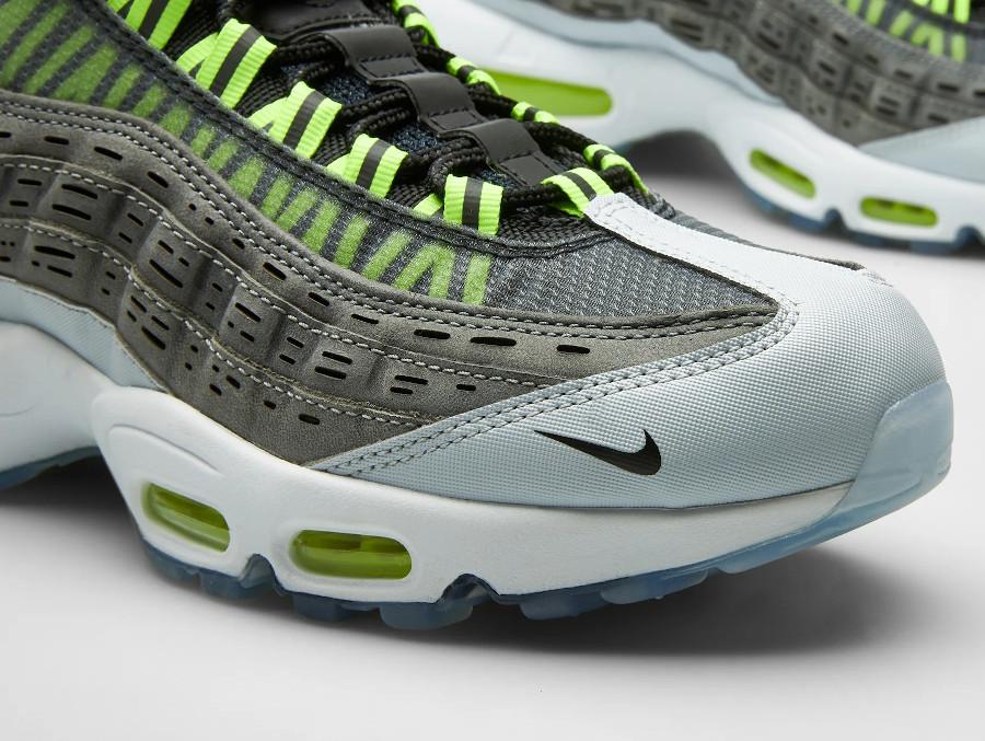 Nike Air Max 95 KJ grise et vert fluo (2)
