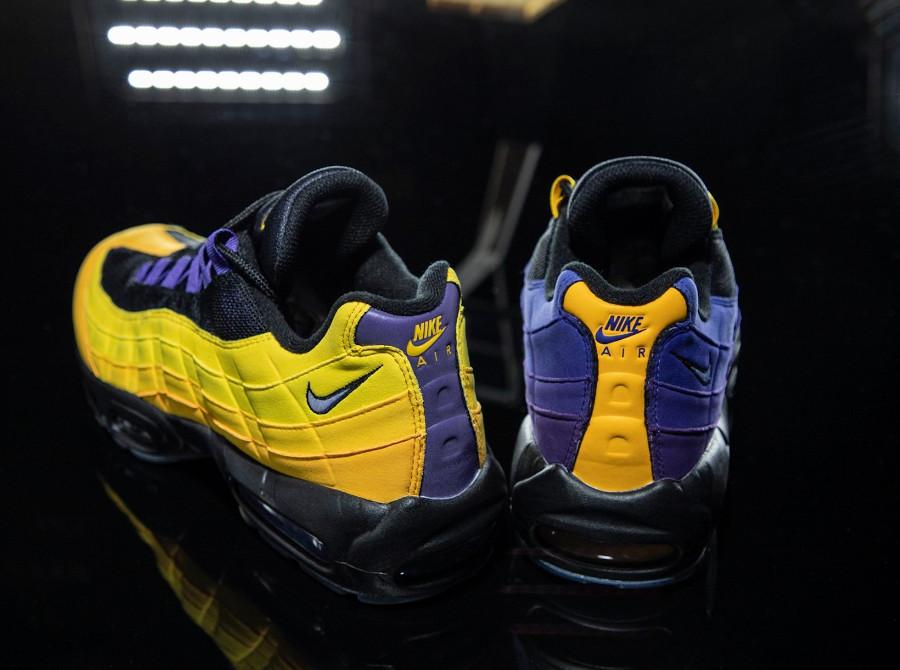 Nike Air Max 95 LBJ 2021 jaune et violet (1)