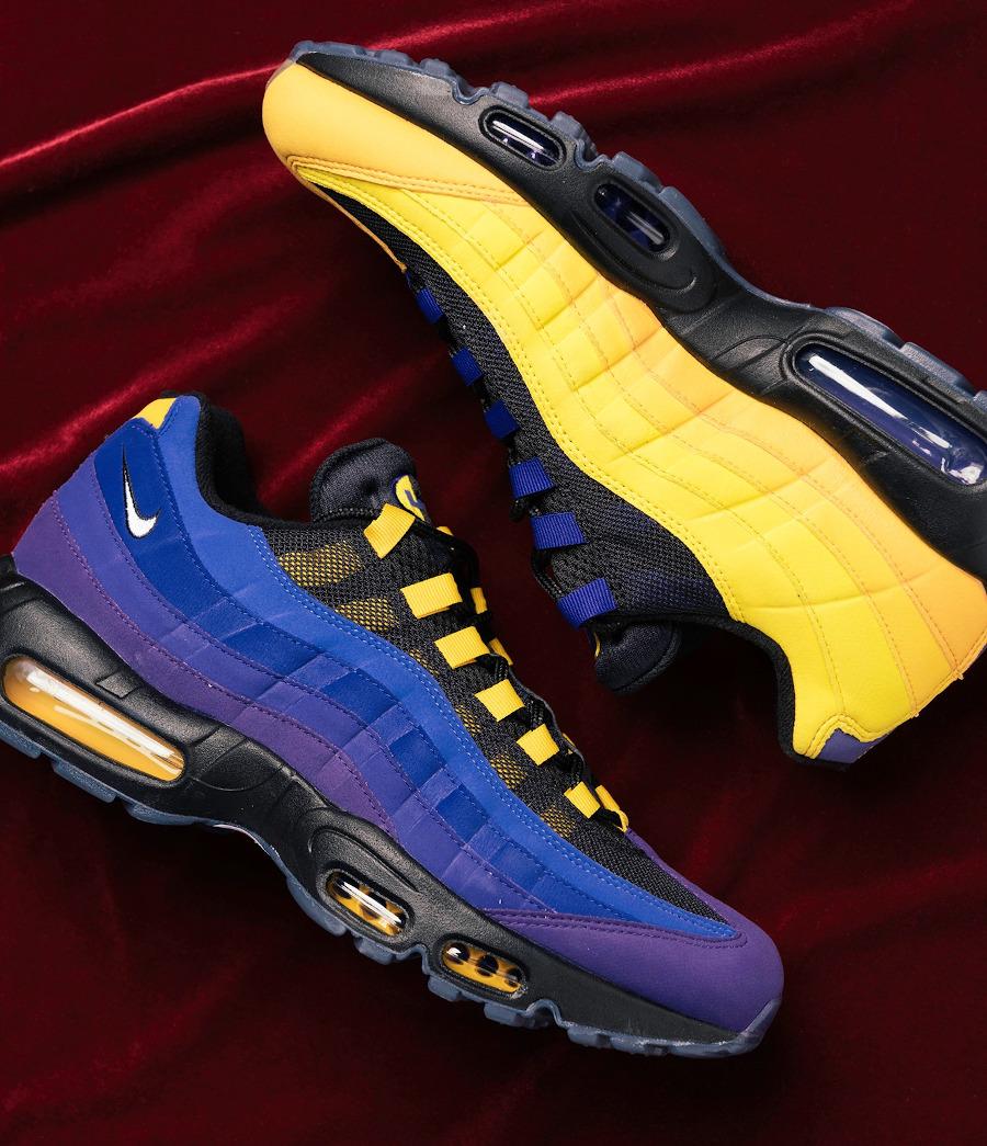 Nike Air Max 95 LBJ 2021 jaune et violet (3)