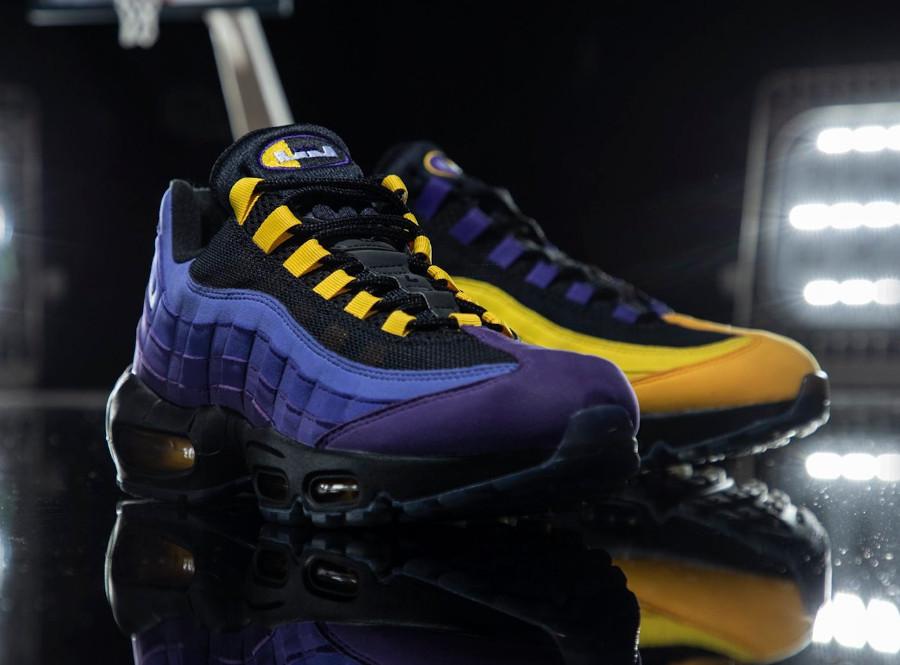 Nike Air Max 95 LBJ 2021 jaune et violet (4)