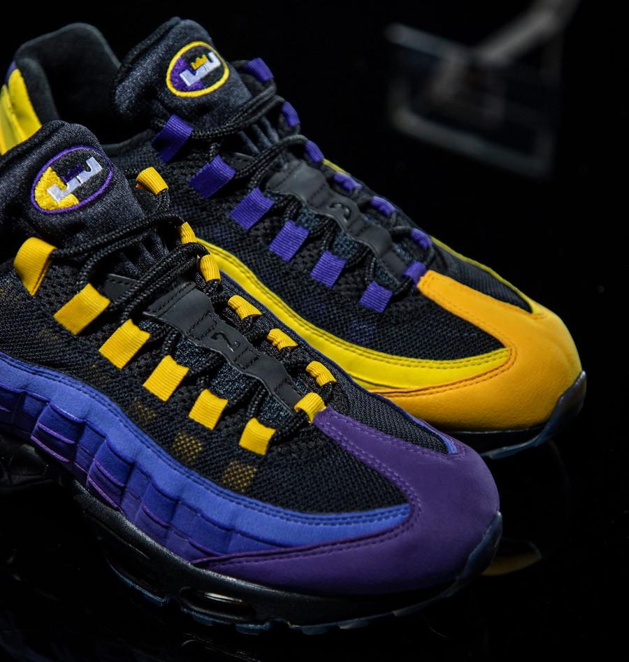 Nike Air Max 95 LBJ 2021 jaune et violet (5)