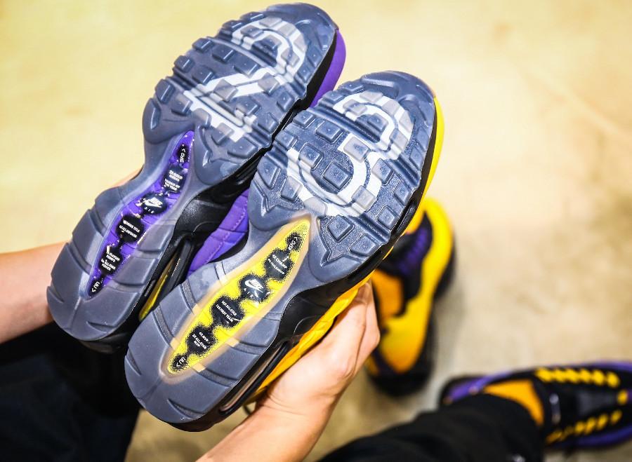Nike Air Max 95 LBJ 2021 jaune et violet (6)