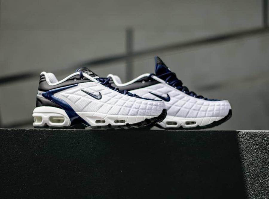 Nike Air Max Tailwind 5 blanche bleu foncé et noire (1)