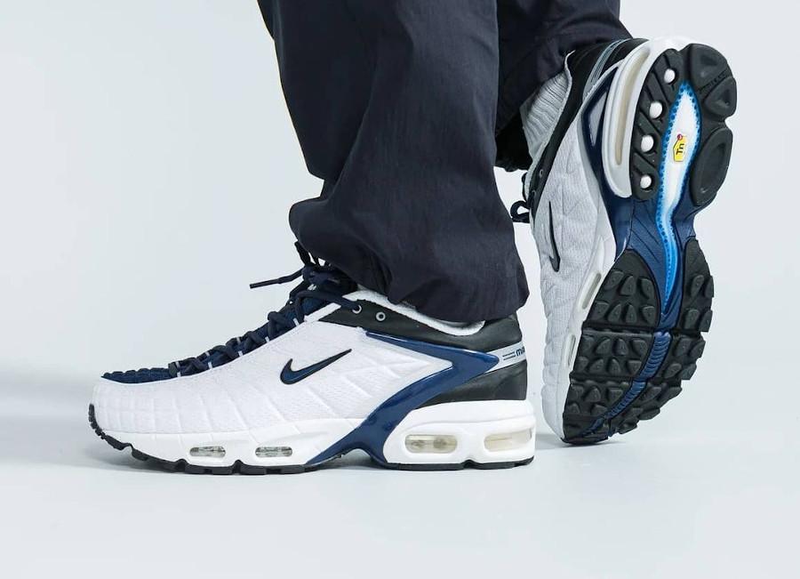 Nike Air Max Tailwind 5 blanche bleu foncé et noire (3)