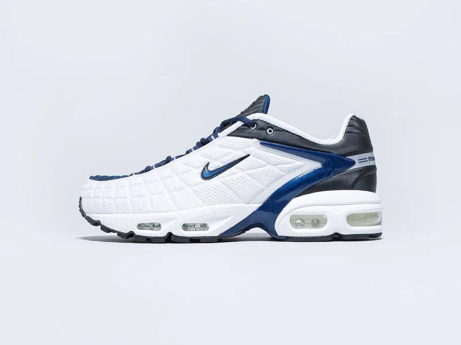 Nike Air Max Tailwind 5 blanche bleu foncé et noire (5)