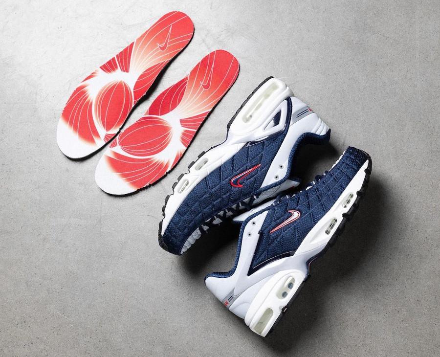 Nike Air Max Tailwind V gris bleu foncé et rouge (4)