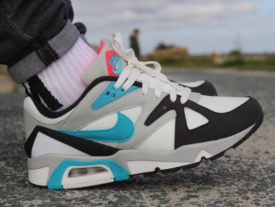 Nike Air Structure 91 bleu turquoise et rouge (2)