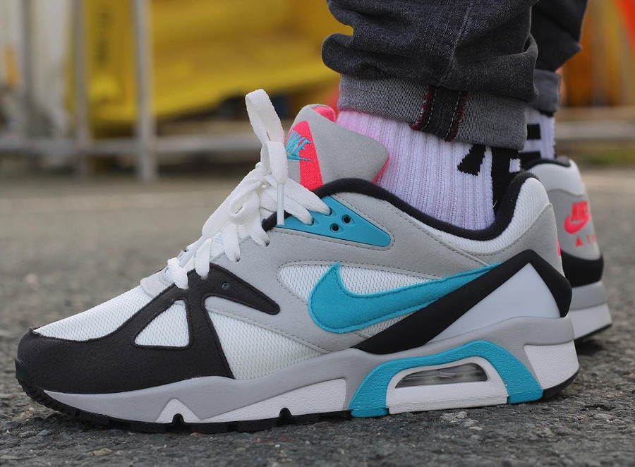 Nike Air Structure 91 bleu turquoise et rouge (3)