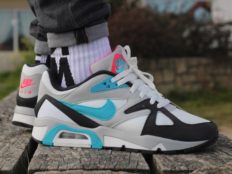 Nike Air Structure 91 bleu turquoise et rouge (4)