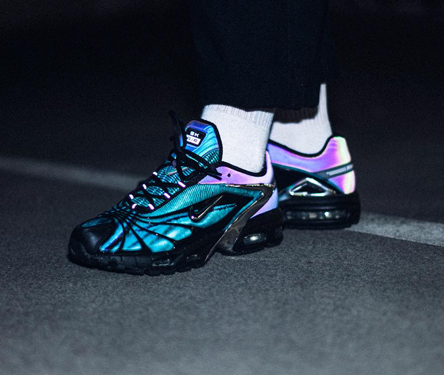 Nike Air Tailwind V +irisée bleu papillon on feet (3)