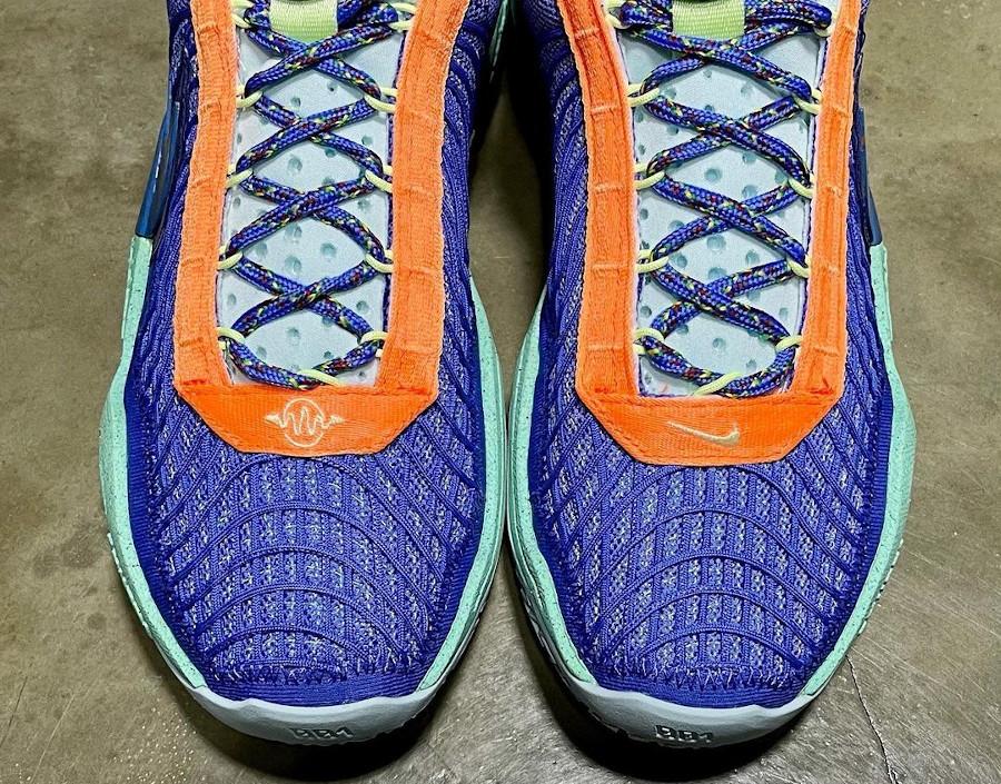 Nike Cosmic Unity ASG violet orange et vert menthe (2)
