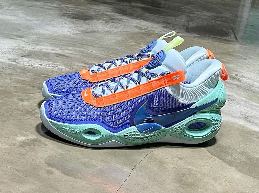 Nike Cosmic Unity ASG violet orange et vert menthe (4)