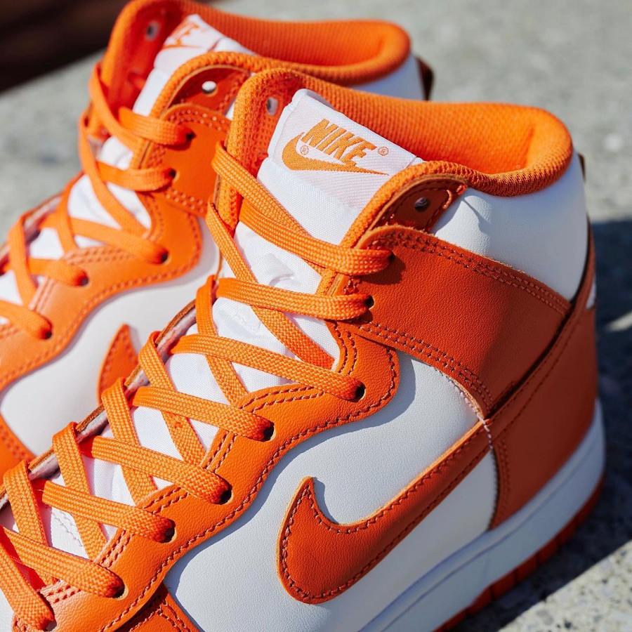 Nike Dunk Hi blanche et orange (1)