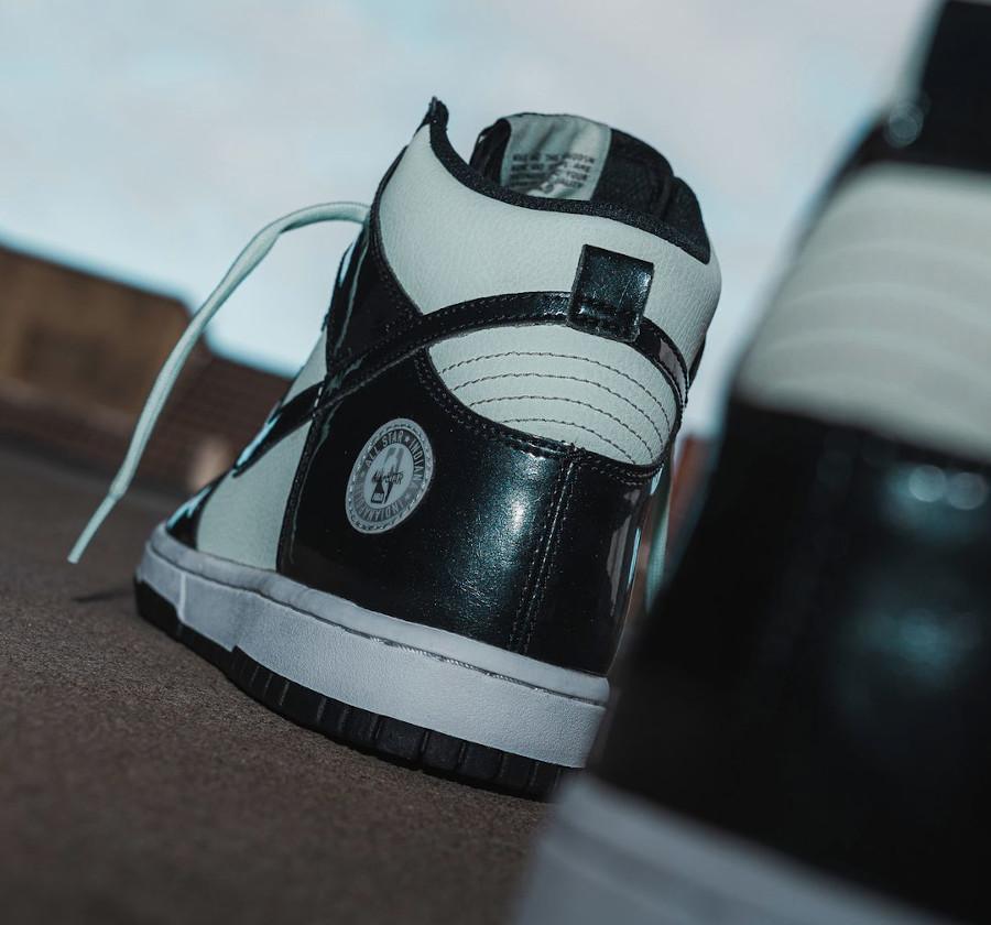 Nike Dunk High Patent Leather noire et vert menthe Indianapolis (1)