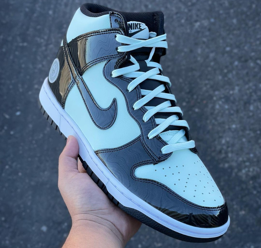 Nike Dunk High Patent Leather noire et vert menthe Indianapolis (2)