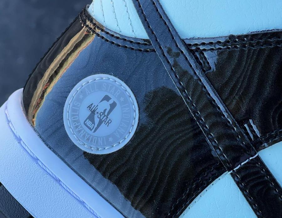 Nike Dunk High Patent Leather noire et vert menthe Indianapolis (3)