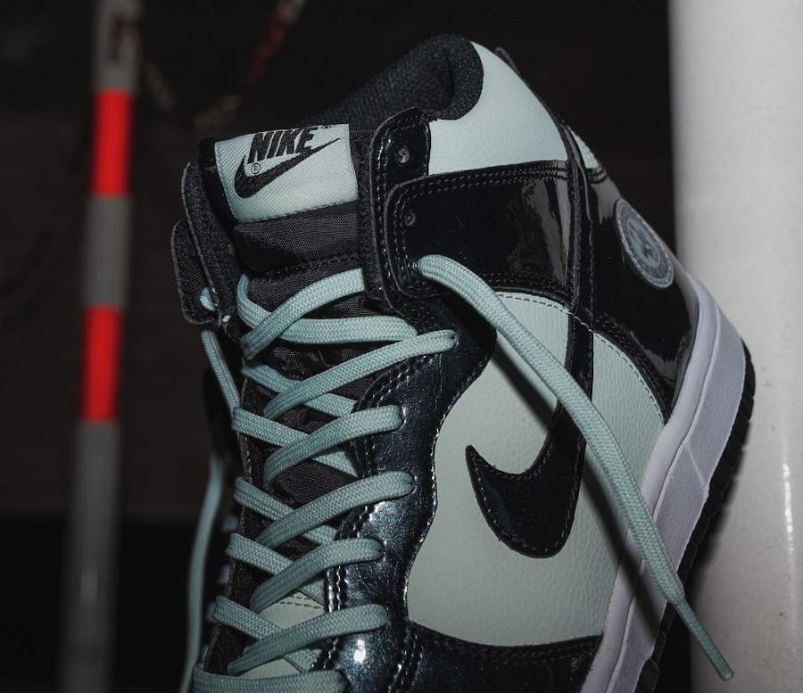 Nike Dunk High Patent Leather noire et vert menthe Indianapolis (4)