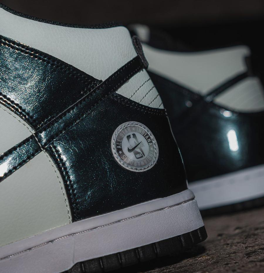 Nike Dunk High Patent Leather noire et vert menthe Indianapolis (6)