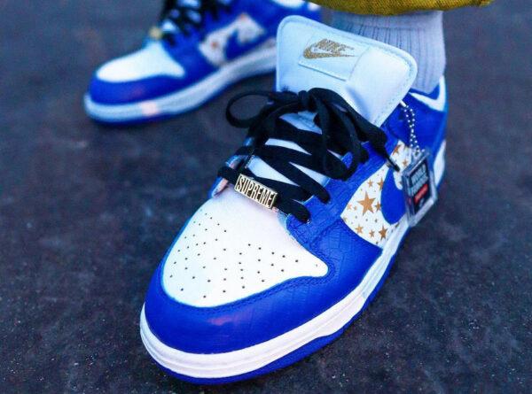 Nike Dunk Lo Pro SB bleu foncé blanche DH3228-100 (couv)