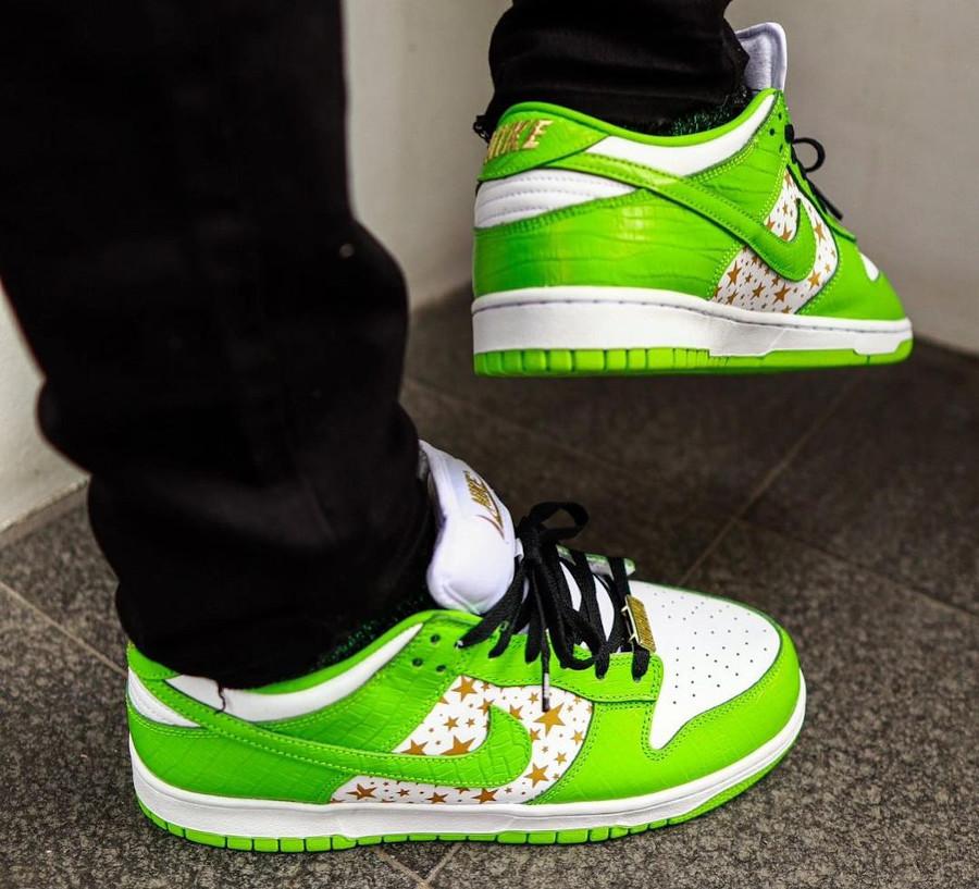 Nike Dunk Lo Pro SB vert pomme DH3228-101 (2)