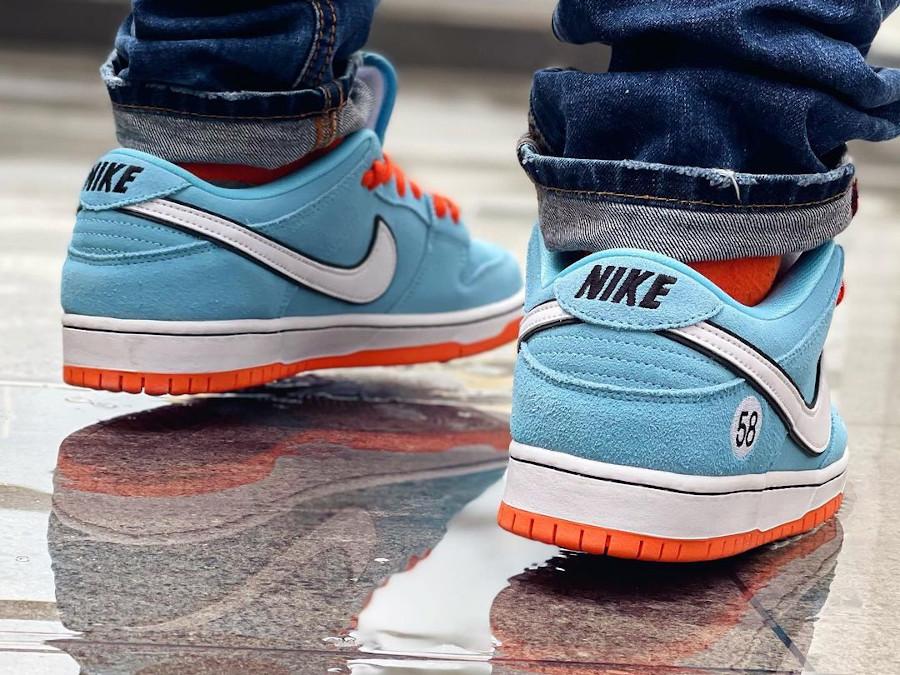 Nike Dunk Low Pro SB bleu ciel et orange (3)