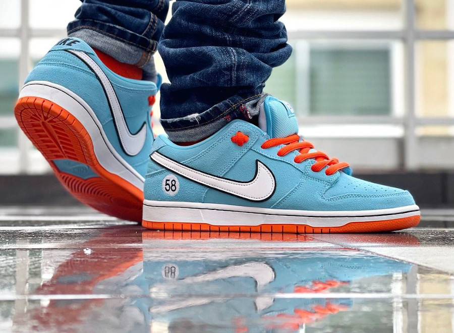 Nike Dunk Low Pro SB bleu ciel et orange (6)