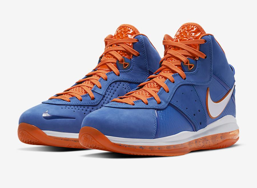 Nike Lebron 8 Orange Blue
