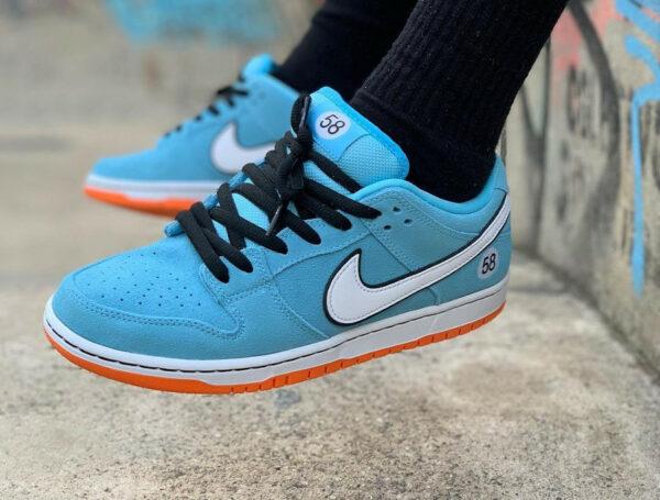 Nike SB Dunk Low Pro Blue Chill Club 58 Gulf bq6817-401